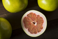 Raw Green Organic Citrus Pummelo Fruit. Ready to Eat Stock Images