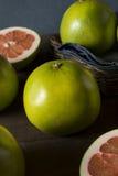 Raw Green Organic Citrus Pummelo Fruit. Ready to Eat Stock Photos
