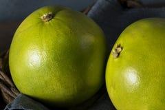 Raw Green Organic Citrus Pummelo Fruit. Ready to Eat Stock Photo