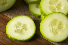 Raw Green Organic European Cucumbers Royalty Free Stock Images