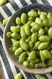 Raw Green Organic Garbanzo Beans Stock Photos