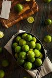 Raw Green Organic Key Limes Stock Photos