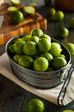 Raw Green Organic Key Limes Royalty Free Stock Images