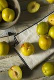 Raw Green Organic Pluots Royalty Free Stock Image