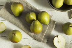 Raw Green Organic Seckel Pears Royalty Free Stock Images