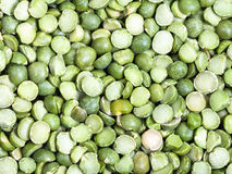 Raw green split peas Royalty Free Stock Photography