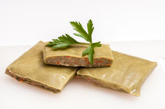 Raw green vegetarian swabian pockets Stock Image