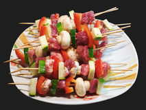 Raw grill sticks Stock Images