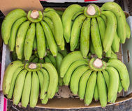 Raw Gros Michel banana in paper box for sale in Thailand market Royalty Free Stock Photos