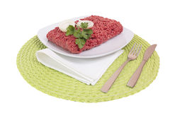 Raw ground beef. Royalty Free Stock Image