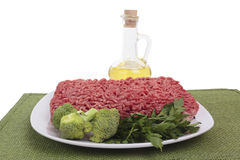 Raw ground beef Stock Photo