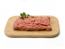 Raw Ground Beef on Cutting Board Royalty Free Stock Image