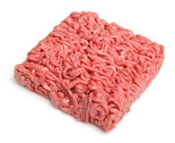 Raw Ground Beef Mince Isolated on White Royalty Free Stock Photo