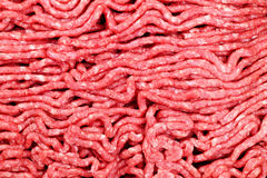 Raw ground meat. Close up of lean red raw ground meat Stock Images