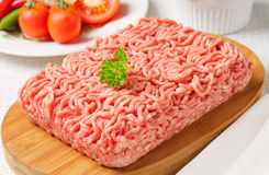 Raw ground pork Royalty Free Stock Photo
