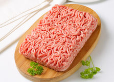 Raw ground pork Royalty Free Stock Image