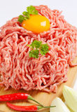Raw ground pork Stock Photo