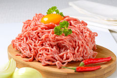 Raw ground pork Stock Image