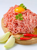 Raw ground pork Stock Images