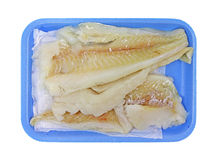 Raw haddock pieces Royalty Free Stock Image