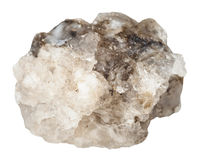 Raw halite rock salt stone isolated. Macro shooting of specimen of natural mineral - raw halite rock salt stone isolated on white background stock photos