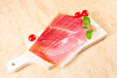 Raw ham Royalty Free Stock Photography