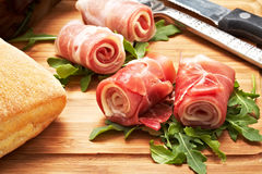 Raw ham Royalty Free Stock Images