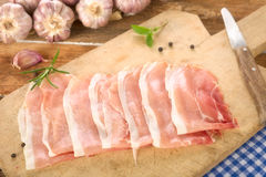 Raw ham Stock Photography