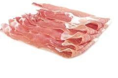 Raw ham leg sliced Royalty Free Stock Image