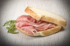 Raw ham leg sliced Royalty Free Stock Photography