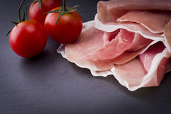Raw ham leg sliced Stock Images