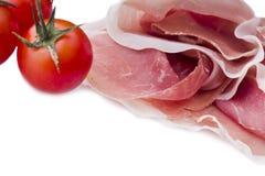Raw ham leg sliced Royalty Free Stock Photos