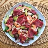 Raw ham salad Stock Image