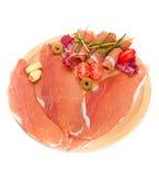 Raw ham Stock Image