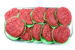 Raw Hamburg Patties for Grilling Royalty Free Stock Photography