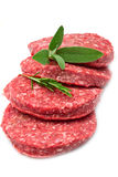 Raw hamburger Royalty Free Stock Images