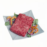 Raw hamburger Stock Photo