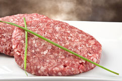 Raw hamburger Royalty Free Stock Photo