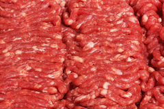 Raw Hamburger. Meat (ground round) for use as a background Stock Image