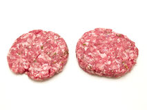 Raw hamburger Royalty Free Stock Photos