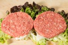 Raw hamburger Royalty Free Stock Image