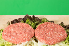 Raw hamburger Stock Photography