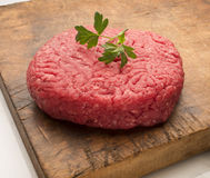 Raw hamburger meat Royalty Free Stock Images