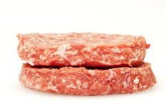 Raw hamburger Royalty Free Stock Photography