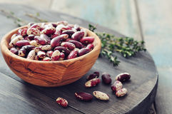 Raw haricot beans Stock Image