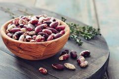 Raw haricot beans Stock Image