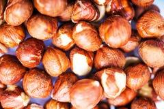 Raw Hazelnuts Closeup Stock Photo