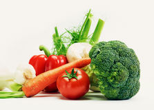 Raw healthy untreated genuine vegetables Stock Photography