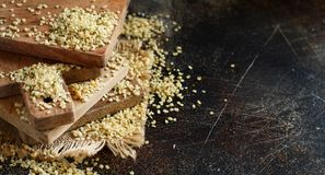 Raw Hemp seeds royalty free stock photography