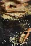 Raw Hemp seeds stock image